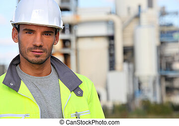 portrait of a construction worker