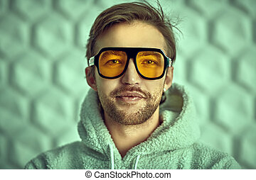stylish yellow sunglasses