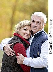 Portrait of a couple hugging