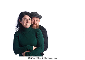 Portrait of a couple in love