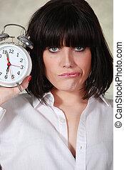 Portrait of a cranky woman