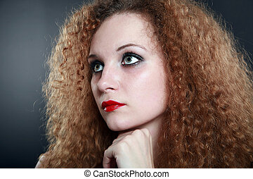 Portrait of a curly girl