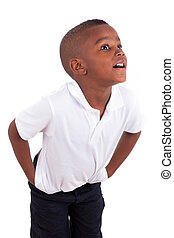 Portrait of a cute african american little boy - Black people