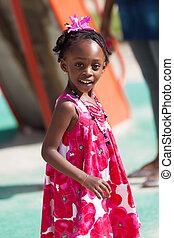 Portrait of a cute african american little girl