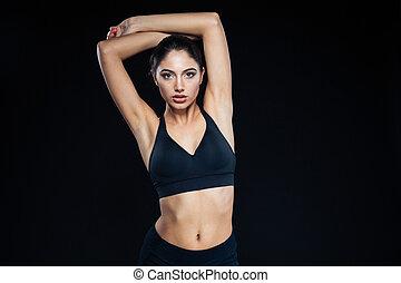 Portrait of a cute fitness woman