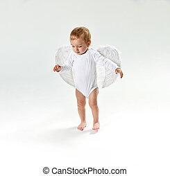 Portrait of a cute little baby angel