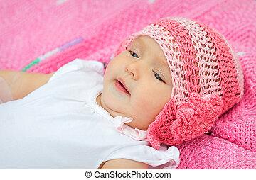 Portrait of a cute little baby girl