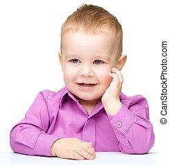 Portrait of a cute little boy