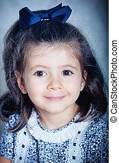 Portrait of a cute little girl