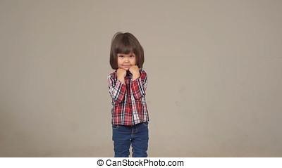 Portrait of a cute little girl.