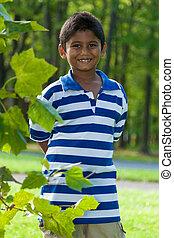 Portrait of a cute little indian boy