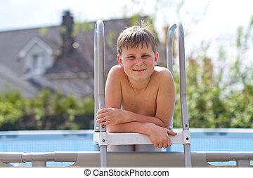 Portrait of a cute teen