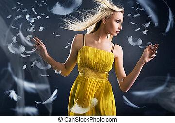 Portrait of a dancing beauty