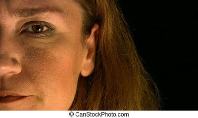 Portrait of a depressive woman