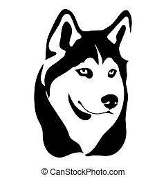 Portrait of a dog of the Husky