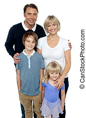 Portrait of a family, studio shot