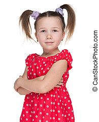 Portrait of a fashion little girl