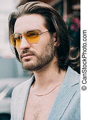 portrait of a fashionable man