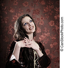 fashionable young woman .photo with copy space