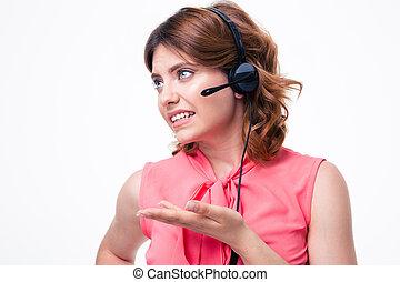 Portrait of a female customer operator