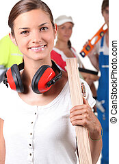 Portrait of a female foreman