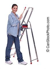 Portrait of a female painter