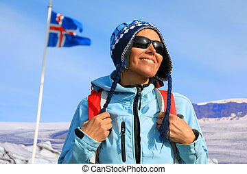 Portrait of a female tourist