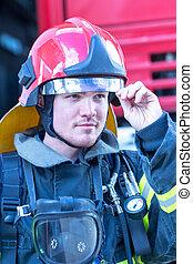 Portrait of a fireman
