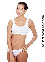 Portrait of a fit woman.