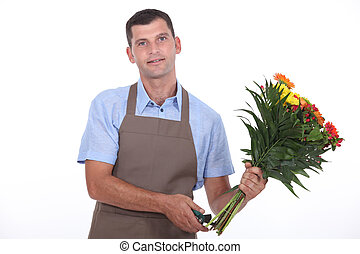 portrait of a florist