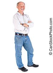 Portrait of a friendly elderly man - Happy old man posing...