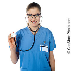 Portrait of a friendly female doctor