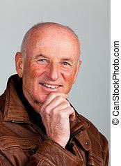 Portrait of a friendly older man