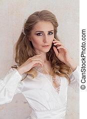 Portrait of a gentle girl in lingerie boudoir 1