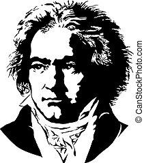Ludwig van Beethoven - Portrait of a German pianist and...