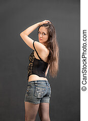 girl in a corset