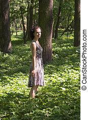 girl in a spring park