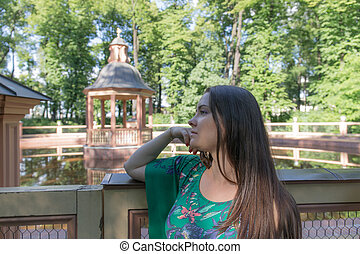 girl in a summer park
