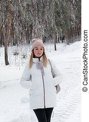 girl in a winter