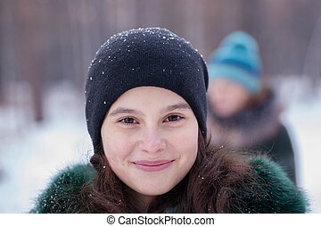 Portrait of a Girl in winter