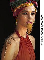 portrait of a girl like an Oriental Princess