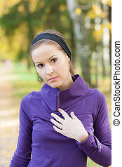 girl on the autumn background