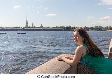 girl on the Neva River