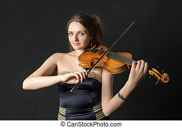 portrait of a girl violinist