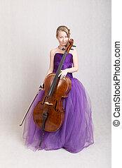 girl with a cello