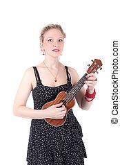 girl with a ukulele