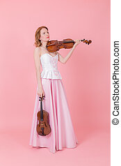 girl with a violin and viola