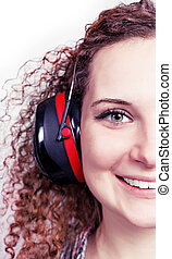 portrait of a girl with headphones