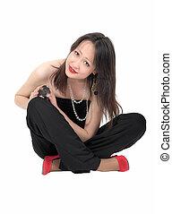 girl with pet rat