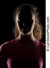 girl with the face in shadow